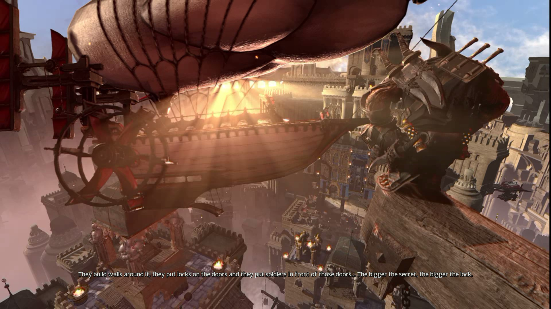 Airships=Steampunky aesthetic.