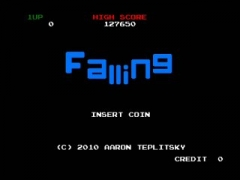 "Action / Puzzle game done in a retro style.  Falling even begins with an arcade ""Check ROM/RAM"" boot process.  It's not necessary at all, but it's definitely a nice touch.  After the homage to old arcade game, you get introduced to even more arcade goodness.  Very simple animation showing the title, very reminiscent of Elevator Action and MANY old 80's games.  So far off to a good start... but how does everything else stack up?"